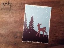 "Postkarte ""Reh im Schnee"""