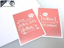 """2 St. Postkarten """"nähen"""" & """"plotten"""""""