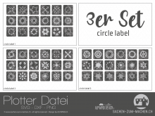 "Plotter-Datei ""circle label"" (3er-Set)"