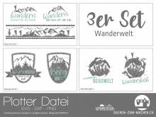 "Plotter-Datei ""Wanderwelt"" (3er-Set)"