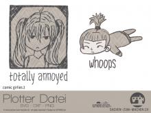 """Plotter-Datei """"comic girlie"""" No2"""