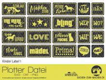 """Plotter-Datei """"Kinder Label"""" No1"""