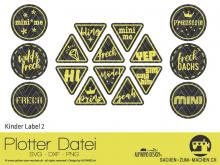 """Plotter-Datei """"Kinder Label"""" No2"""
