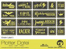 """Plotter-Datei """"Kinder Label"""" No3"""