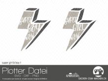 "Plotter-Datei ""super girl&boy"" #1"