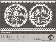 """Plotter-Datei """"Alpenzauber"""" #3"""