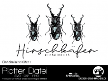 "Plotter-Datei ""einheimische Käfer #1"""