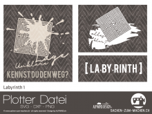 "Plotter-Datei ""Labyrinth #1"""