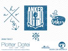 "Plotter-Datei ""Anker Herz"" No2"
