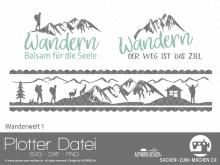 "Plotter-Datei ""Wanderwelt"" #1"