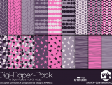 "Digi-Papers ""branches - violet"""