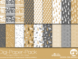 "Digi-Papers ""Christmas 3 - gold"""