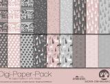 "Digi-Papers ""Christmas 4 - dusky pink"""