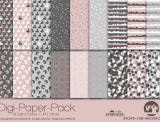 "Digi-Papers ""Bunny1 - dusky pink"""