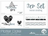 """Plotter-Datei """"never ending"""" (3er-Set)"""