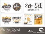 """Plotter-Datei """"BBQ Season"""" (3er-Set)"""