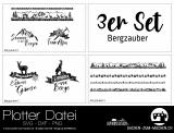 """Plotter-Datei """"Bergzauber"""" (3er-Set)"""