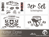 """Plotter-Datei """"Schwingfest"""" (3er-Set)"""