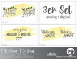 """Plotter-Datei """"analog+digital"""" (3er-Set)"""