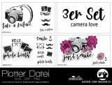 """Plotter-Datei """"camera love"""" (3er-Set)"""