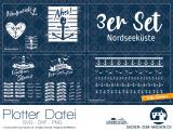 """Plotter-Datei """"Nordseeküste"""" (3er-Set)"""