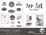 "Plotter-Datei ""my coffee"" (3er-Set)"