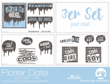 "Plotter-Datei ""just cool"" (3er-Set)"