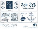 "Plotter-Datei ""Anker-Heimat"" (3er-Set)"