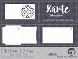 """Plotter-Datei """"Karte Schneestern"""""""
