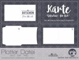 """Plotter-Datei """"Karte Gutschein"""""""