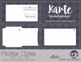 "Plotter-Datei ""Karte Geschenkkarte"""