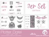"Plotter-Datei ""cool faces"" (3er-Set)"
