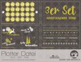 """Plotter-Datei """"Adventskalender-Sterne"""" (3er-Set)"""