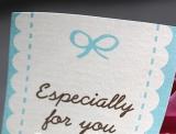 """especially for you"" Aufkleber 5x5cm, 5 Bögen (30 Sticker)"