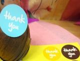 """""""thank you - farbig"""" Aufkleber  Ø3.8cm, 4 Bögen (36 Sticker)"""