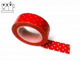 Masking Tape Punkte rot/weiss 1.5cm/10m
