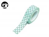 Masking Tape Dreiecke mint/weiss 1.5cm/10m
