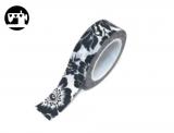 Masking Tape Hibiscus schwarz 1.5cm/10m