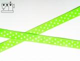 Ripsband, 9mm, Punkte/neon-grün