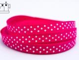 Ripsband, 9mm, Punkte/pink