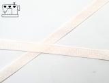 Ripsband, 9mm, Punkte/weiss-creme
