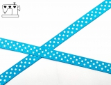 Ripsband, 9mm, Punkte/hellblau