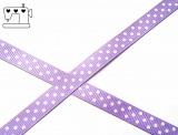 Ripsband, 9mm, Punkte/lila