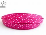 """Ripsband, 16mm, """"stars pink/white"""""""