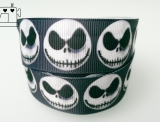 "Ripsband, 25mm ""halloween skulls"""