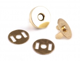 5 St. Magnetverschlüsse Ø15mm gold