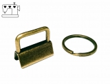 5 St. Schlüsselanhänger Rohlinge 25mm inkl. Ring - antik