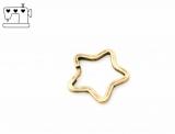 Schlüsselring Stern Ø34mm - altmessing