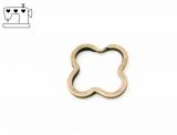 Schlüsselring Kleeblatt Ø30mm - altmessing