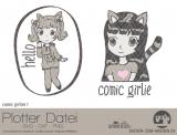 """Plotter-Datei """"comic girlie"""" No1"""
